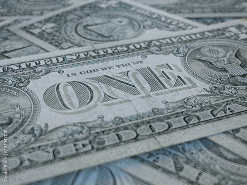 Fototapety, obrazy: American currency background. Dollars of United States of America. US Dollars background