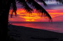 Hawaiian Sunset Sky At The Beach