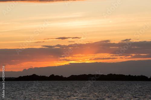summer sunset chiconteague bay