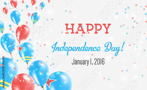 Aruba Independence Day Greeting Card Canvas Print