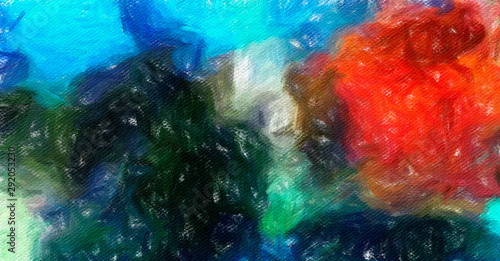 Fototapety, obrazy: Abstract watercolor texture background. Oil painting style. Good for banner, design work and over advertising or commercial. Can be printed in very big size in perfect resolution.