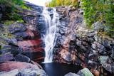 Wodospad Solbergfossen w Kandada koło Lier w Buskerud w Norwegii