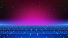 Synthwave Background. Retro Fu...