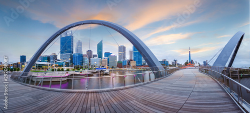 Obraz Perth cityscape Elizabeth quay located in Perth Western Australia - fototapety do salonu