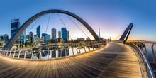 Perth Cityscape Elizabeth Quay Located In Perth Western Australia