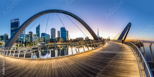 Fotomural  Perth Cityscape Elizabeth quay located in Perth Western Australia