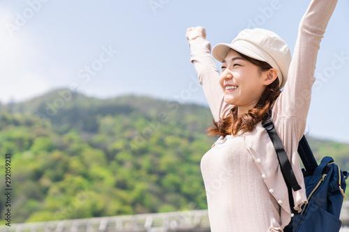 Stampa su Tela 観光する女性 京都