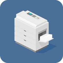 Flat Isometric Photocopier Pri...