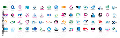 Fotomural  Abstract Logo And Icon Set