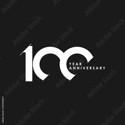 100 Years Anniversary Vector Template Design Illustration Fototapet
