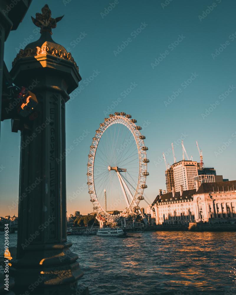 Fototapety, obrazy: London eye