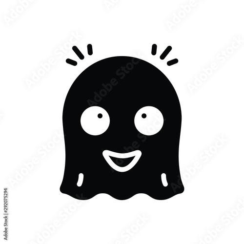Photo Black solid icon for ghost