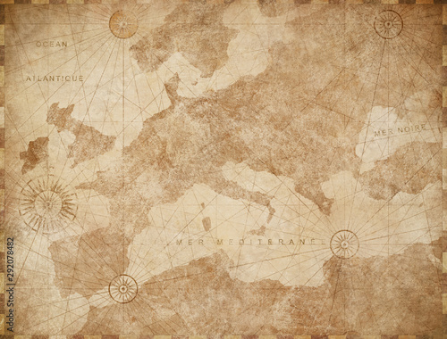 Foto Vintage Europe map retro background
