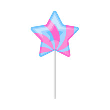 Star-shaped Lollipop. Vector I...
