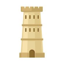 Beige Watchtower. Vector Illus...