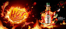 Hot Chili Sauce Ads Banner