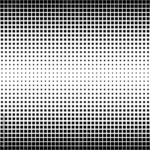 Fotografia, Obraz  Pattern background abstract texture, vector shape perforated square, Halftone ba