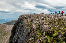 People Hike On The Ben Nevis S...