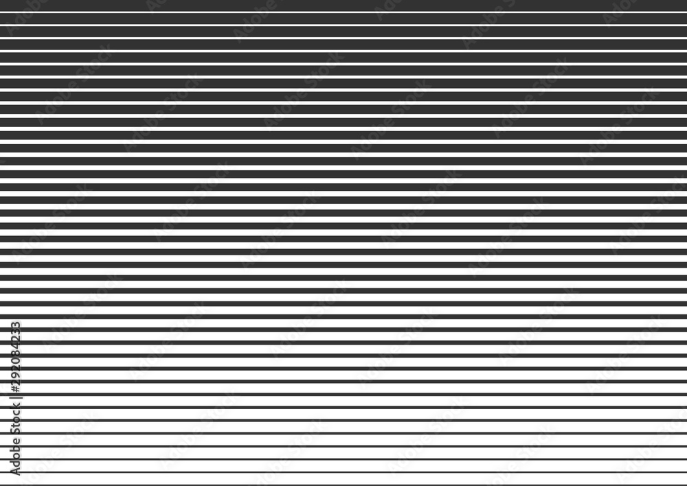 Fototapeta Horizontal lines, linear halftone. Pattern with horizontal stripes. Vector illustration.