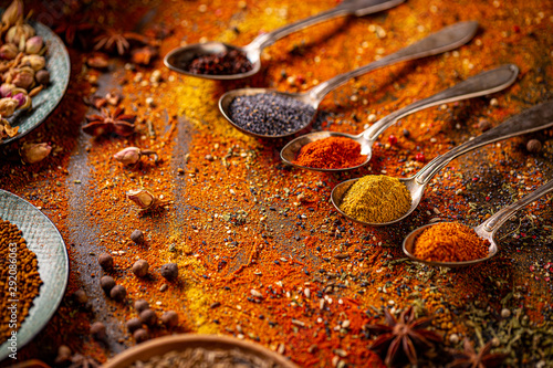 Canvastavla Spices still life
