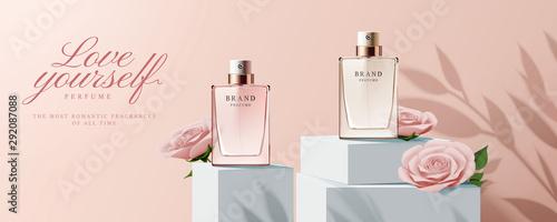 Elegant perfume ads Wallpaper Mural