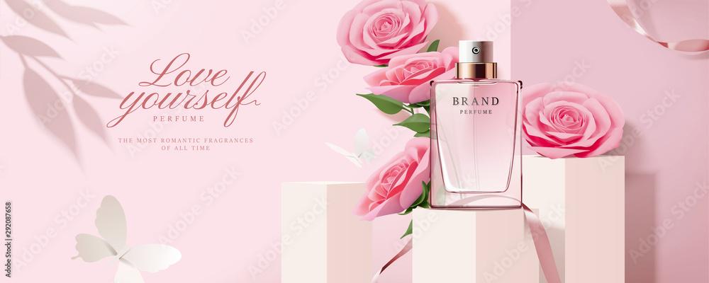 Fototapety, obrazy: Elegant perfume banner ads