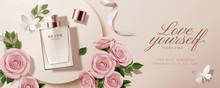Flat Lay Perfume Ads