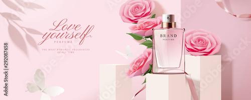 Fototapeta Elegant perfume banner ads obraz