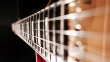 Guitar  Fretboard . Closeup