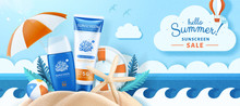 Ocean Friendly Sunscreen Ads