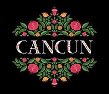 Cancun, Mexico Illustration Ve...