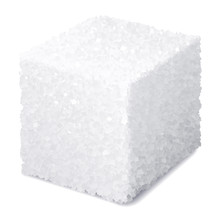 Vector Realistic 3d Sugar Cube Isolated On White Background