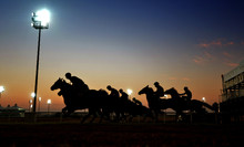Horse Riders In Silhouette To ...