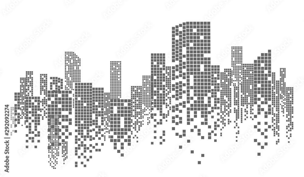Fototapety, obrazy: city skyline vector illustration
