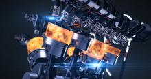 High Tech V8 Diesel Engine Wit...