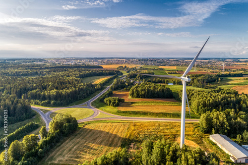 Wind power station. Aerial view.