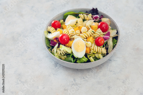 Photo sur Toile Amsterdam Dutch Mimolette egg pasta salad