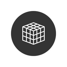Rubik Vector Icon In Modern Style For Web Site And Mobile App