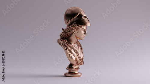 Fotografía Bronze Minerva Bust Sculpture Right View 3d illustration 3d render