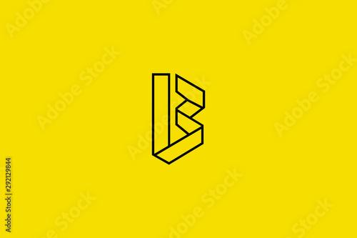 Fotografie, Obraz  Initial based clean and minimal B Logo