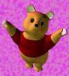 Leinwanddruck Bild - teddy bear asking for a hug
