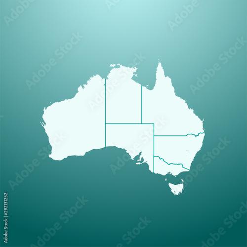 vector illustration map of Australia