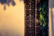 Old Rusty Decorative Iron Door...