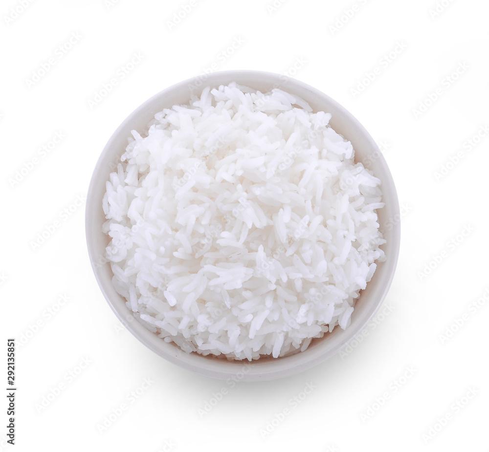 Fototapety, obrazy: rice bowl on white background