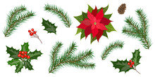Set For Christmas Holiday Deco...