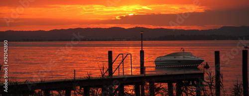 Boot im Sonnenuntergang Canvas Print