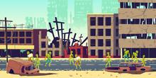 Zombie Apocalypse In City Conc...