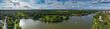 Leinwandbild Motiv Blick von oben auf den Aasee in Münster/Deutschland