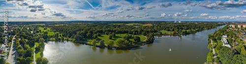 Blick von oben auf den Aasee in Münster/Deutschland #292146051