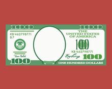 100 Dollar Bill With An Empty ...